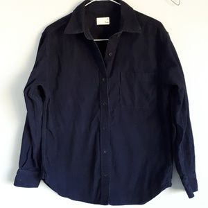 Wilfred navy buttoned shirt